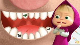 Маша и Медведь Маша Стоматолог Лечит Зубы Свинке Розочке