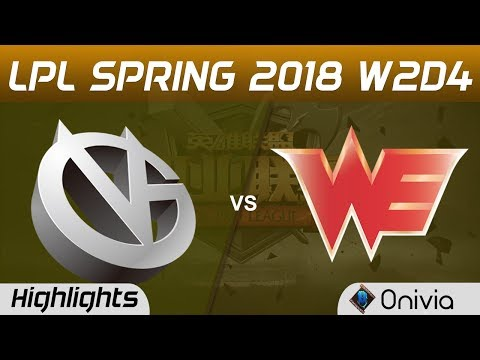 VG vs WE Highlights Game 2 LPL Spring 2018 W2D4 Vici Gaming vs Team WE by Onivia
