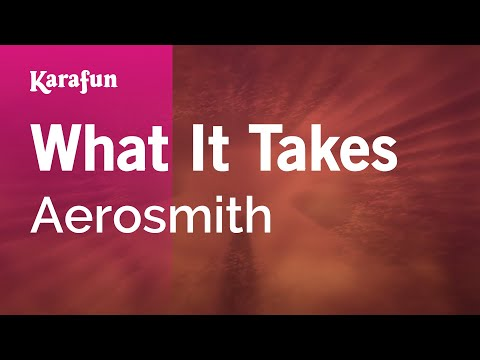 Karaoke What It Takes - Aerosmith *