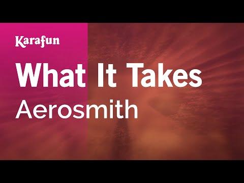 Karaoke What It Takes - Aerosmith *