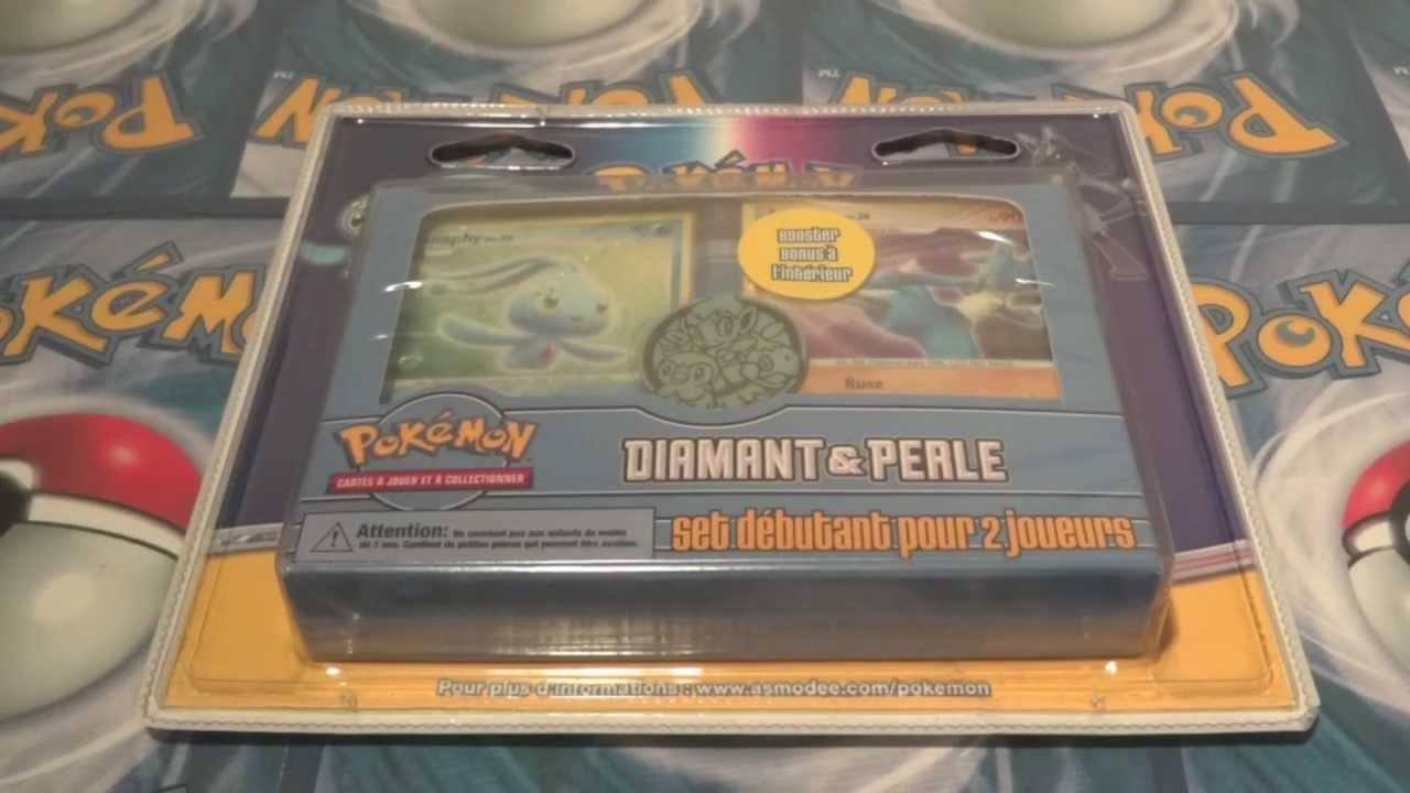 Rare ouverture d 39 un kit dresseur pok mon diamant perle dont 1 booster platine magnifique - Pokemon rare diamant ...