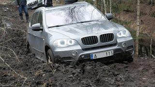 BMW X5 на бездорожье. ОффРоуд покатушки в болотах. Отдых по-русски.