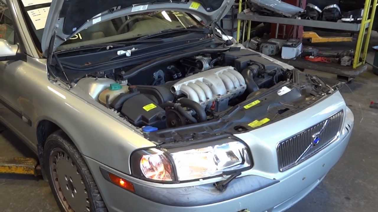 2001 Volvo S80 2.9L engine with 71k miles - YouTube