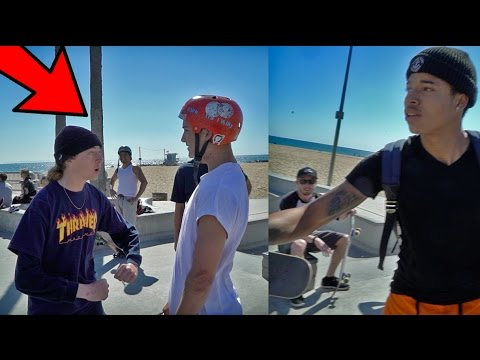 SKATER TRIES TO FIGHT ME...THIS HAPPENS!