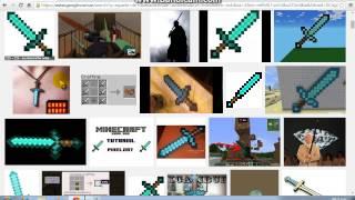 como poner tu cursor de espada de minecraft