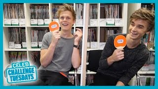 Caspar Lee and Joe Sugg play Mr and Mrs