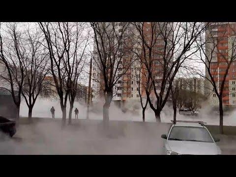 Северо-Запад Челябинска заволокло паром
