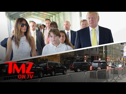Barron Trump Heads To School In NYC! | TMZ TV