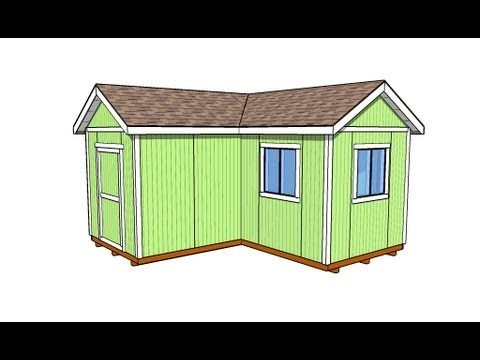 L shaped shed youtube for L shaped shed