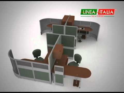 Configuraciones con escritorio en l muebles para oficina for Muebles para oficina mamparas