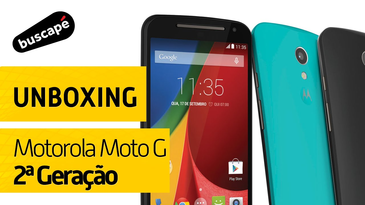7886999a1 Motorola Moto G (2ª Geração) DTV Colors - Unboxing - YouTube