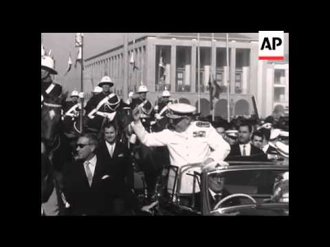 ARRIVAL OF THE PRESIDENT OF PORTUGAL - ADMIRAL AMERICO THOMAZ TO LOURENCO MARQUES -  NO SOUND
