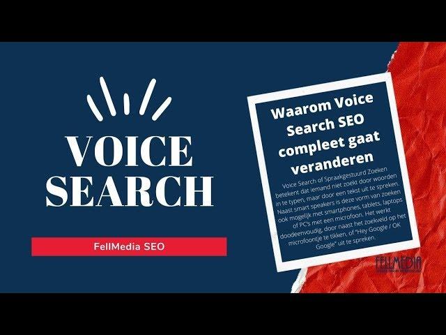 Waarom Voice Search - spraakgestuurd zoeken - seo compleet gaat veranderen