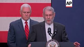 Controversial rabbi cites Jesus at Pence rally