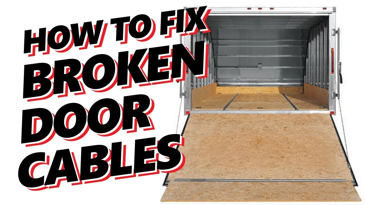 Hybrid Snowmobile Atv Trailer Ramp Door Repair How To Fix Broken Cable Youtube