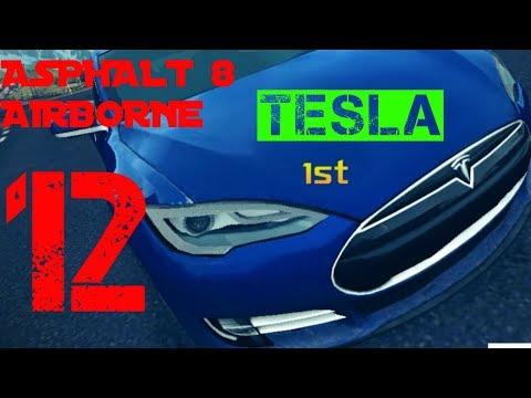Asphalt 8 Airborne Iceland Season 1 Tesla Car Race  Walkthrough  *  HD Game Play - Part 12