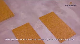 Монтаж на коркови подове с лепене за основата