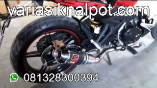 sound test knalpot akrapovic gp m1 lorenzo carbon look jupiter mx king 150