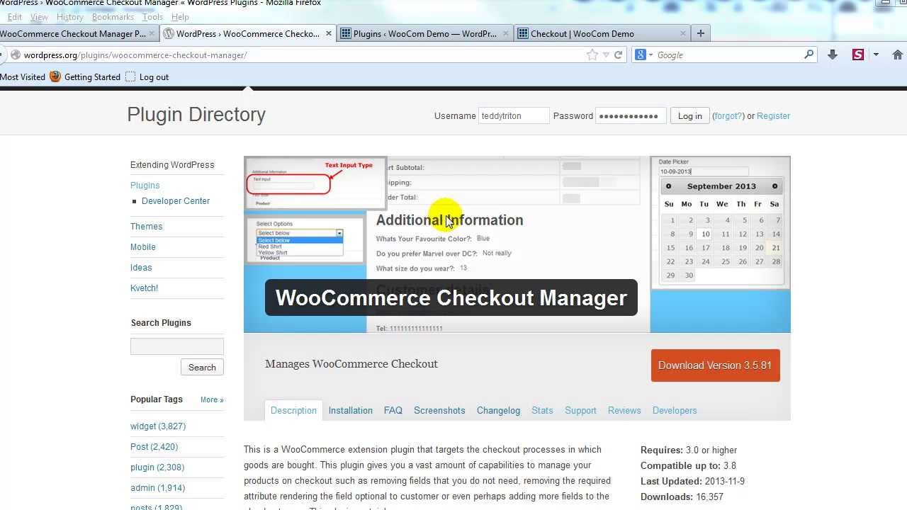 WooCommerce Checkout Manager Extension Plugin tutorial - Part 1 ...