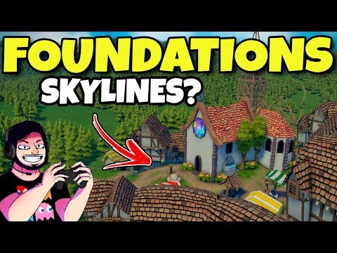 CITIES SKYLINES MEDIEVAL? | Foundations | Gameplay em Português PT-BR