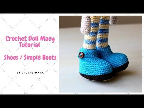 Crochet Doll Part 1 - Sneakers & Legs - Free Tutorial & Pattern ... | 360x480