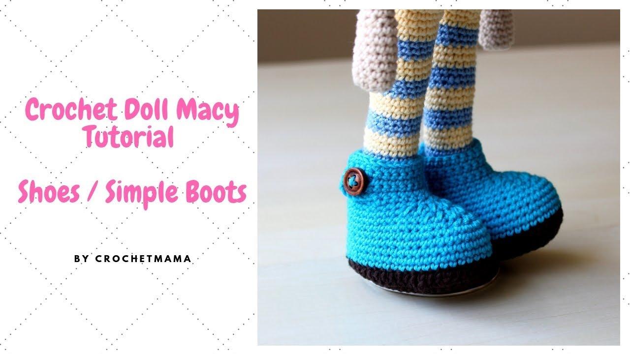 Crochet Doll Part 1 - Sneakers & Legs - Free Tutorial & Pattern ... | 720x1280