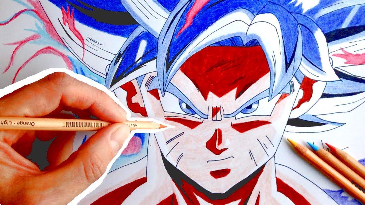 Drawing 16 goku ultra instinct mastered dragon ball super episode 130 youtube - Goku ultra instinct sketch ...