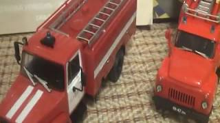 ГАЗ-3307-226 АЦ-30 пожарное пополнение от DeAgostini обзор 1:43