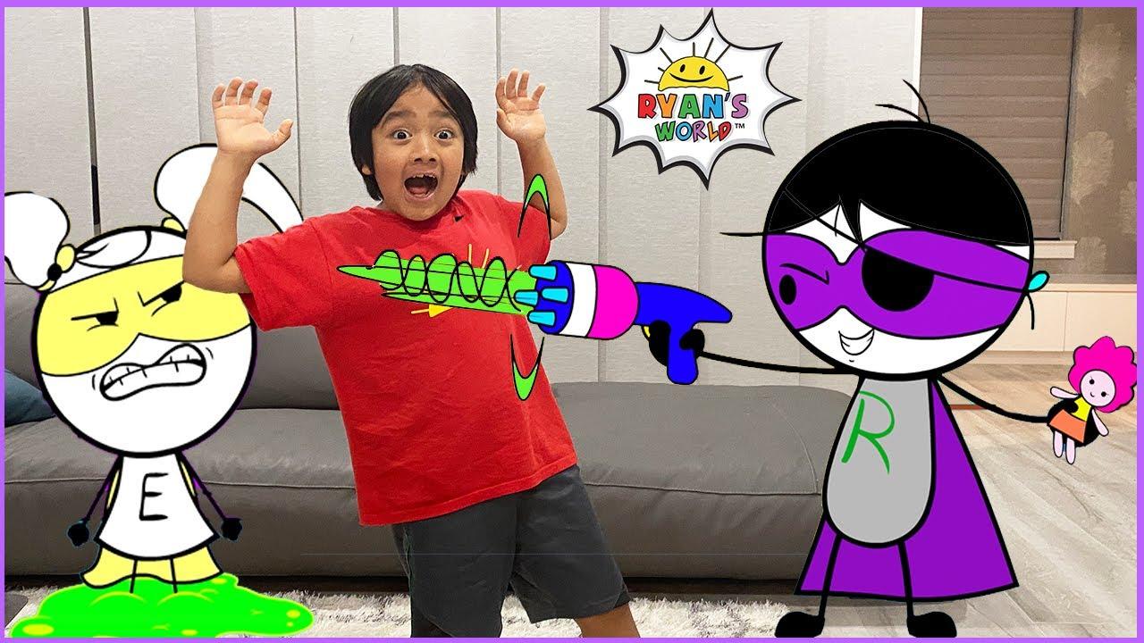 Download Ryan vs Dark Titan with EK Doodles with 1 hr kids video!!
