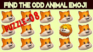 Spot The Odd Emoji One Out Levels 3,4 | Find The Odd One Out | Emoji Movie Games