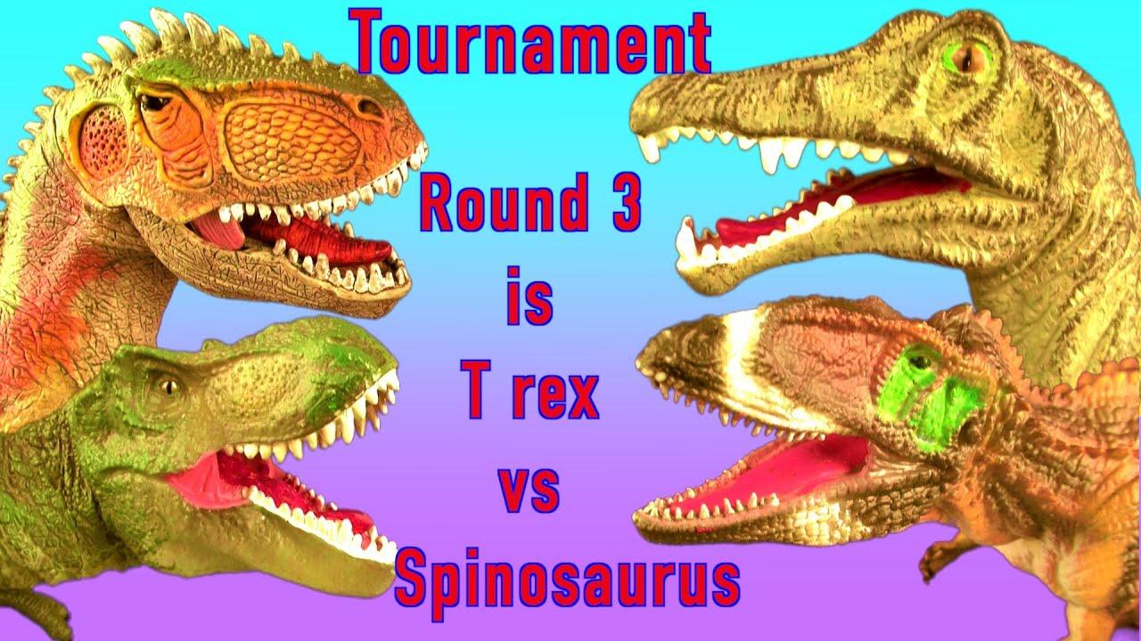 Dinosaur Fight EPIC Battle TYRANNOSAURUS vs SPINOSAURUS T ...