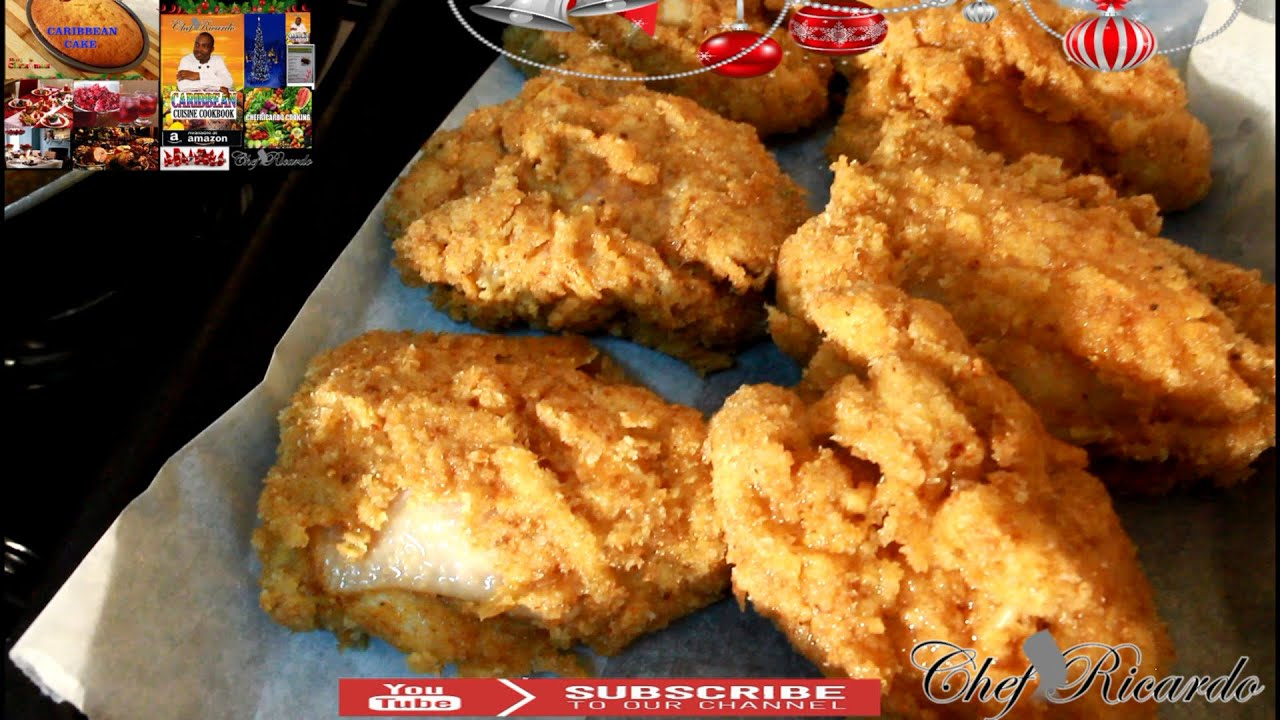 Christmas Bread Crumbs Fried Chicken Recipe Recipes By Chef Ricardo Youtube