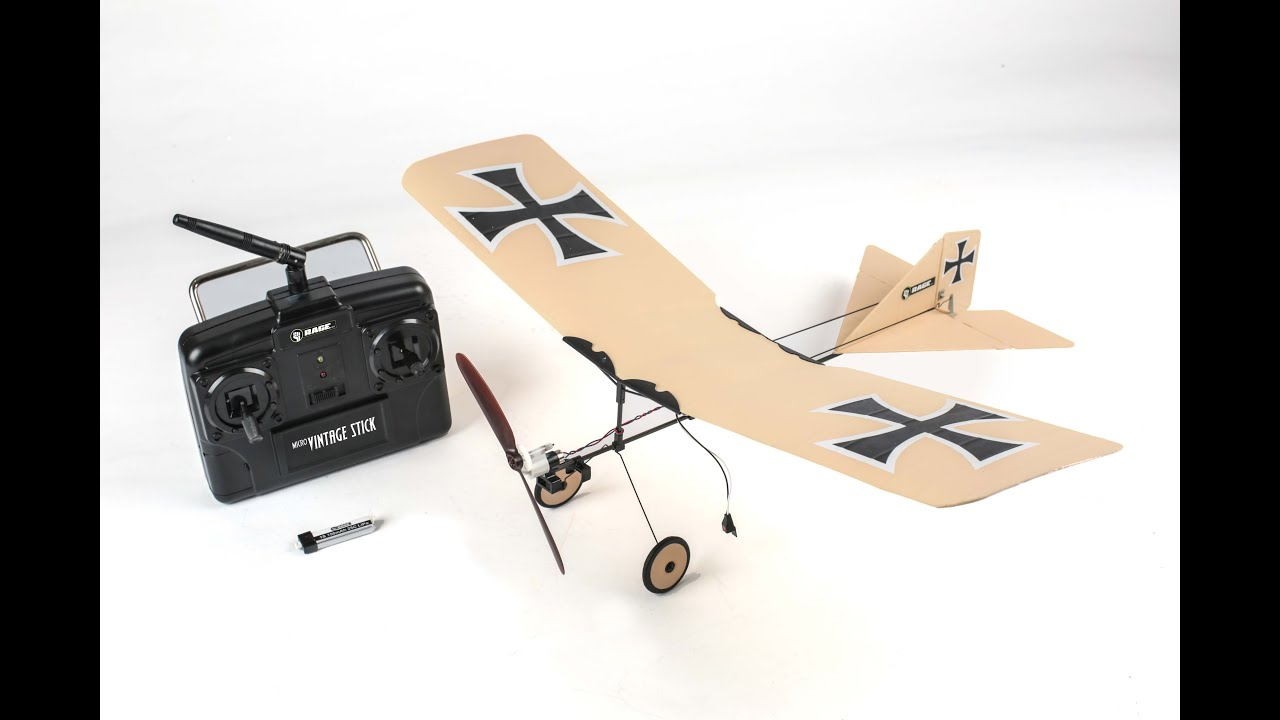 Rage R/C Vintage Stick Ready to Fly (RTF) Airplane
