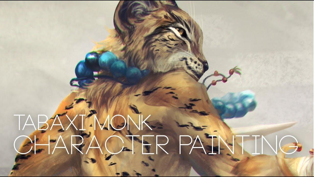 Tabaxi Monk Character Painting Youtube Tabaxi monk demonstrating that not all unarmed strikes have to be done with fists and kicks. tabaxi monk character painting