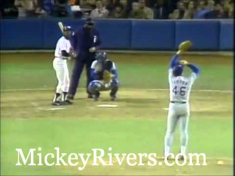 Mickey Rivers in Game 6 of the 1977 World Series