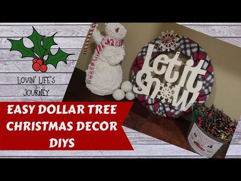 Easy Dollar Tree Christmas Decor Projects on a Budget | Farmhouse Style Decor