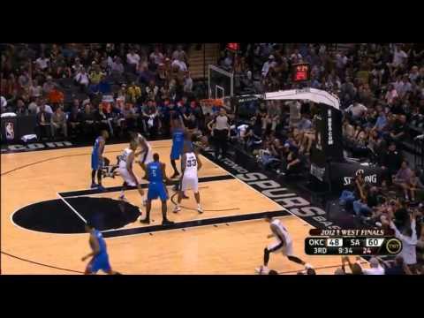 [HD] Thunder vs Spurs Game 2 Highlights  | 2012 NBA Playoffs
