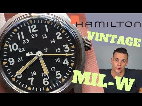 Affordable NOS Vintage: Hamilton Military Issue MIL-W-46374 Review | 10:10 Tock