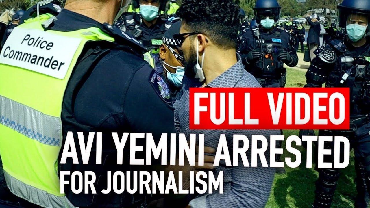 AUSTRALIA'S SHAME: Melbourne police bodyslam reporter Avi Yemini covering pandemic lockdown protest