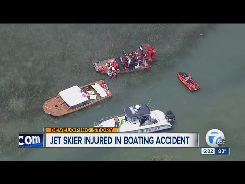 Man injured after jet ski collides with boat near Harsens Island