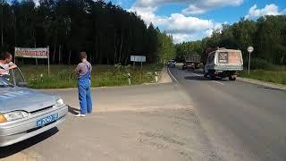 ГРУБОЕ нарушение калужского ДПС г. Кондрово, д. Озеро