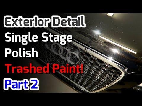 Single Stage Polish // Trashed Black Paint // Audi A4 // Part 2