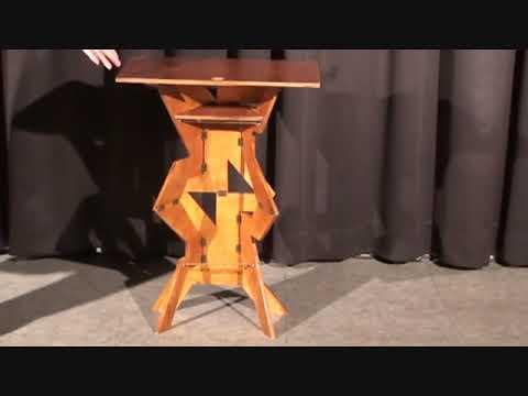 Table Pliante En Bois Guéridon Version Luxe Youtube