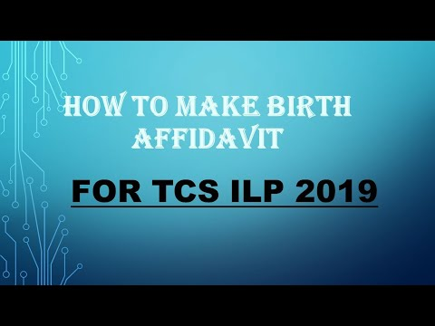 How to make BIRTH CERTIFICATE FOR TCS