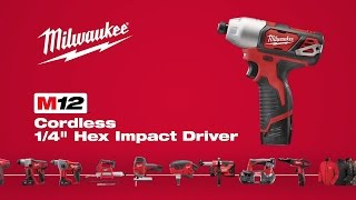 "Milwaukee® M12™ 1/4"" Hex Impact Driver 2462-22"