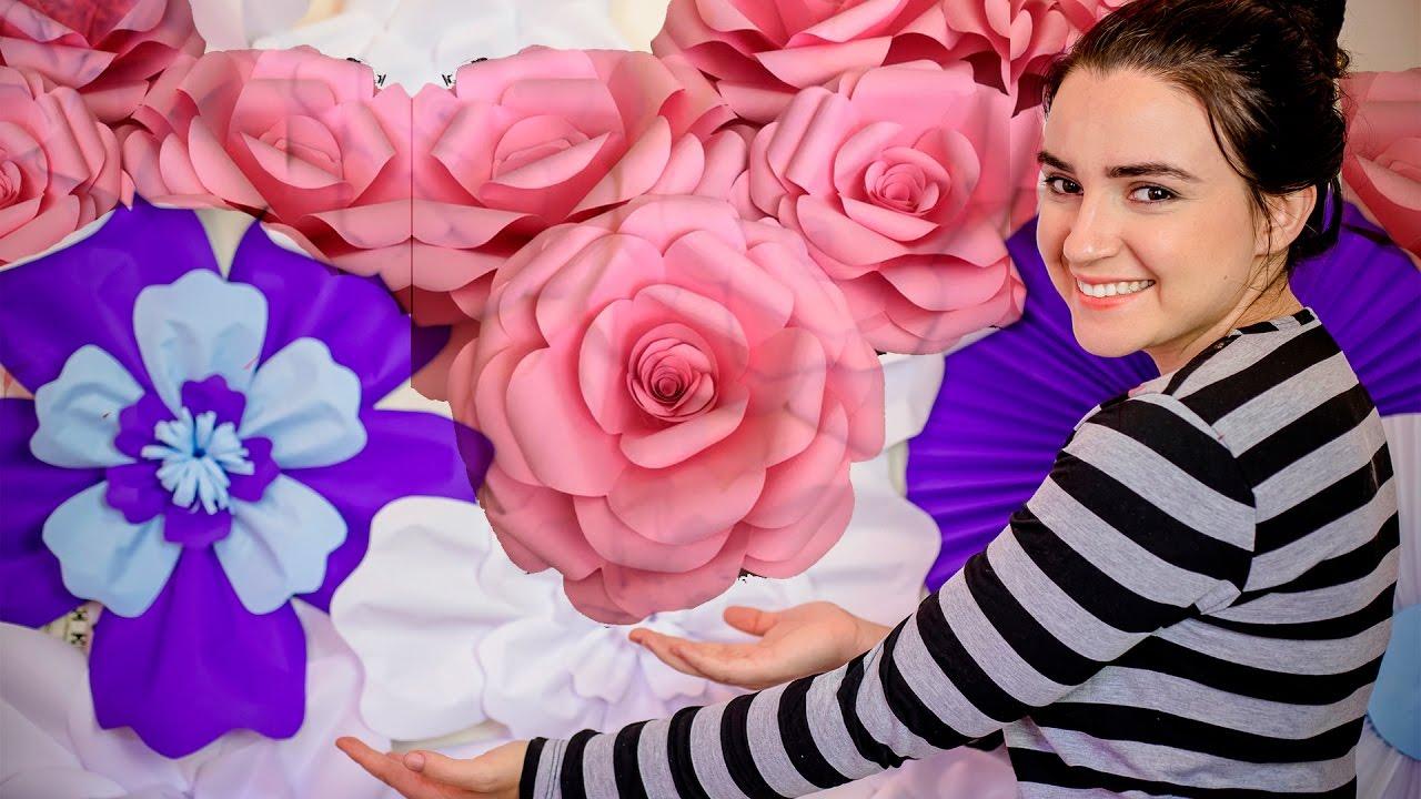 Rosa De Papel Gigante Diy Com Moldes Diario Da Noiva Ep 7 Youtube