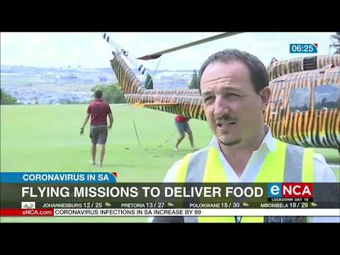 Local pilots deliver food and essential goods to poor communities