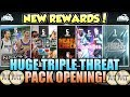 HUGE NBA 2K19 TRIPLE THREAT PACK OPENING AND NEW REWARD PACKS TO MAKE A LOT OF MT IN MYTEAM