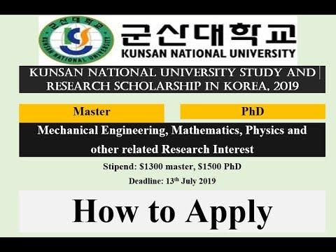 Kunsan National University Scholarship in Korea, 2019   Fully Funded   How to Apply