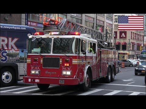 FDNY fire truck responding